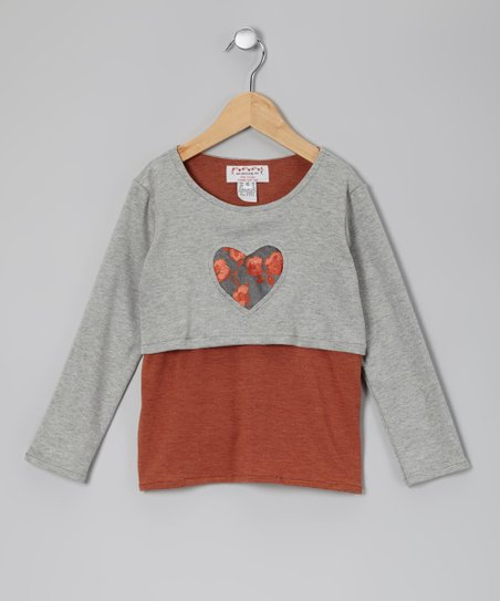 Gray & Black Leland Layered Tee - Toddler & Girls
