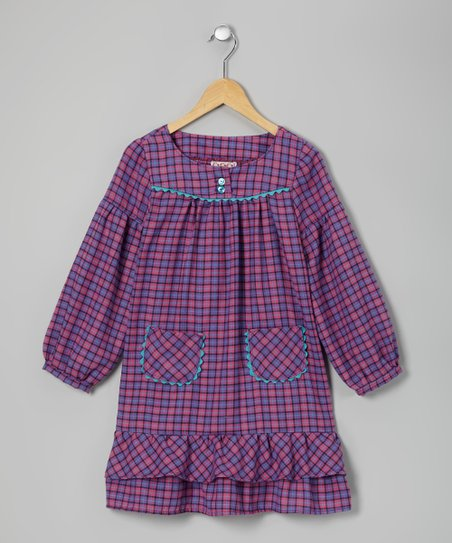 Purple Rad in Plaid Dress - Toddler &amp; Girls