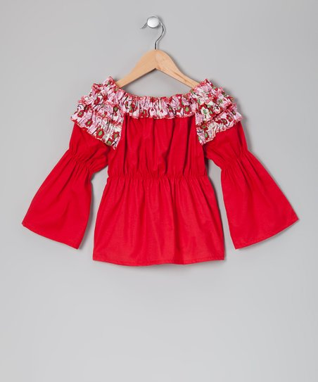 Red Apple Orchard Tunic - Toddler & Girls