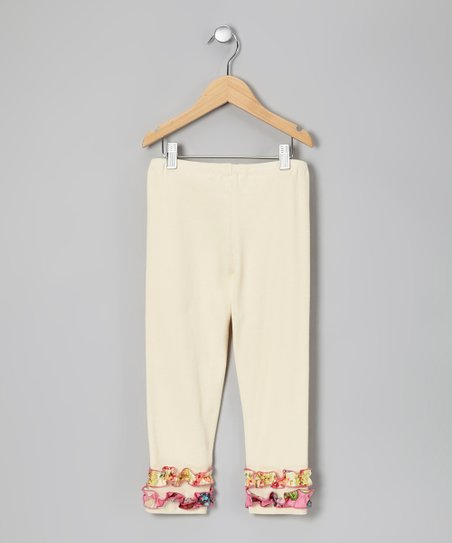 Ivory & Pink Cheryl Leggings - Toddler