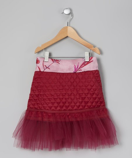 Burgundy Tulle Skirt - Toddler & Girls