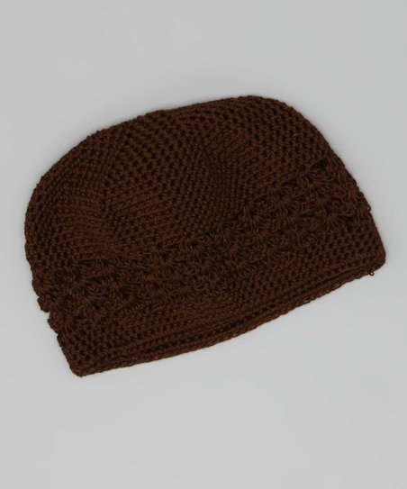 Brown Crocheted Beanie