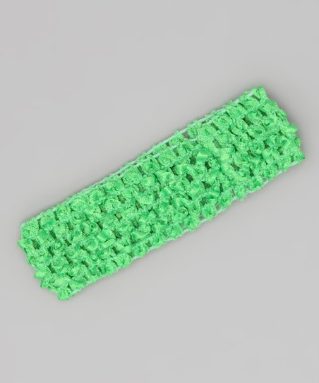 Lime Green Crocheted Headband