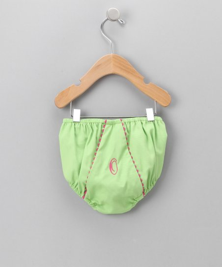 Green Initial Diaper Cover