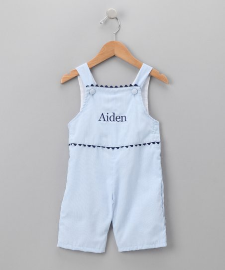 Light Blue Personalized Shortalls - Infant & Toddler