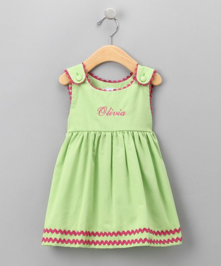 Green Personalized Dress - Infant, Toddler & Girls