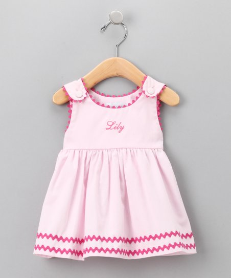 Light Pink Personalized Dress - Infant, Toddler &amp; Girls