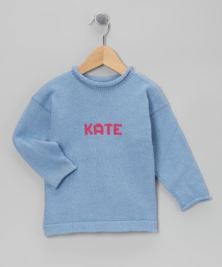 MJK KNITS Fuchsia Personalized Sweater - Infant, Toddler & Girls