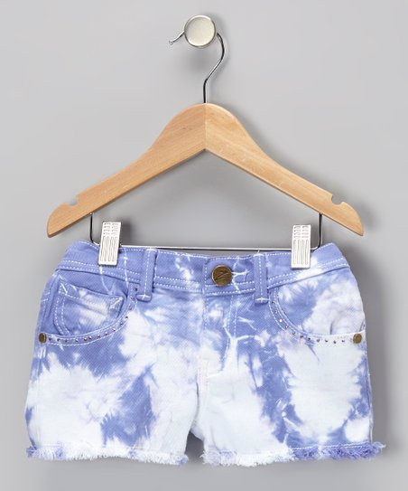 Violet Crush Tie-Dye Denim Shorts - Toddler & Girls