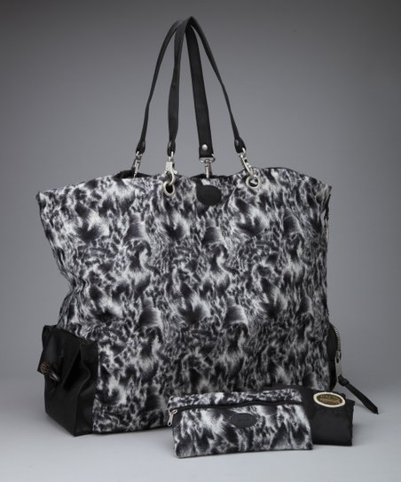 Black &amp; White Swirl FAB Tote Set