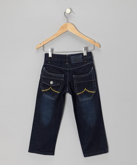 Dark Blue Straight-Leg Jeans - Toddler & Boys