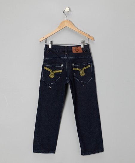 Asymmetrical Pocket Straight-Leg Jeans - Toddler & Boys