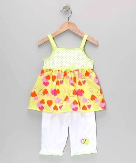 Lime Heart Tunic & Pants - Infant & Toddler