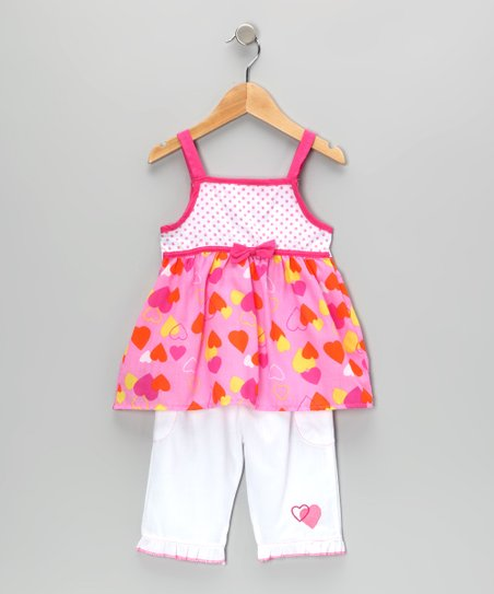 Pink Heart Tunic & Pants - Infant & Toddler