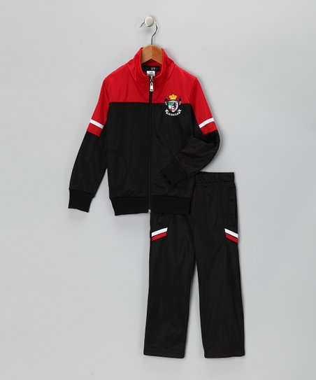 Black &amp; Red &#039;Victory&#039; Jacket &amp; Pants - Toddler &amp; Boys