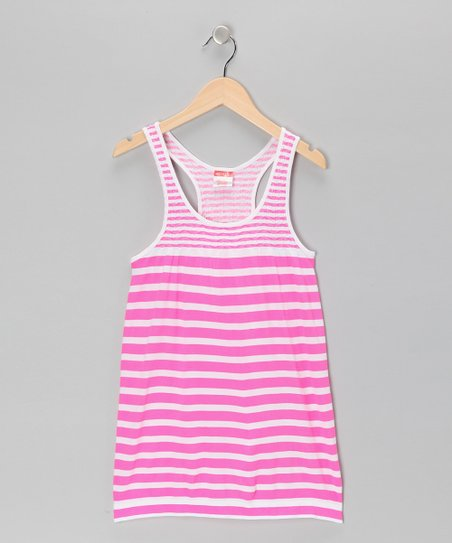 Pink Stripe Racerback Dress - Toddler & Girls