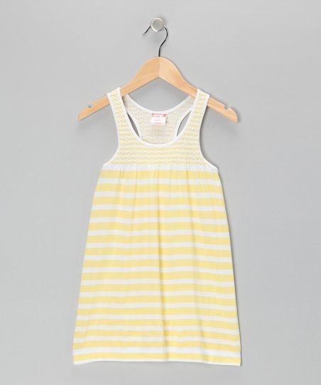 Yellow Stripe Racerback Dress - Toddler & Girls