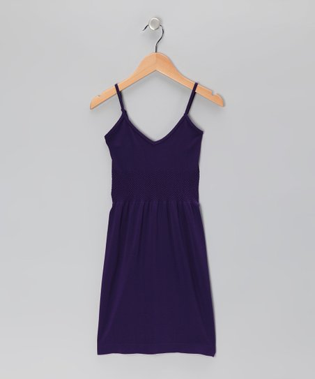 Purple V-Neck Dress - Toddler & Girls