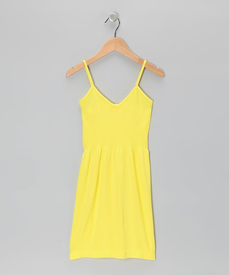 Yellow V-Neck Dress - Toddler & Girls