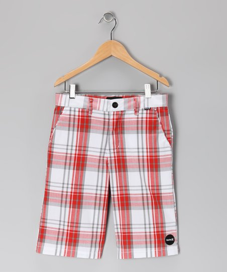 Orange Plaid Ryder Shorts - Infant & Boys