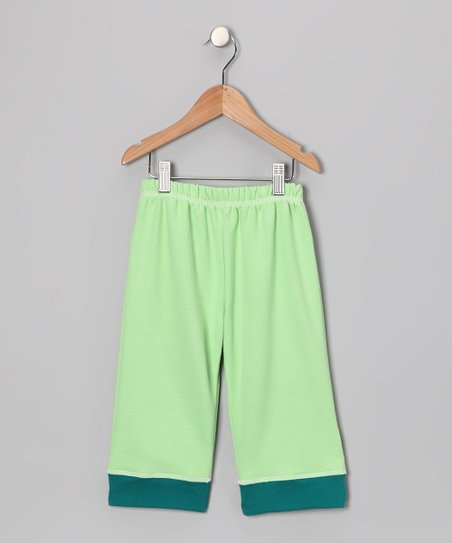 Green Organic Yoga Pants - Infant, Toddler &amp; Kids