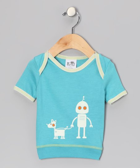 Blue Robot Tee - Infant & Kids
