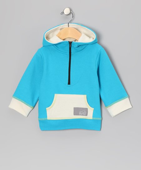 Blue French Terry Organic Hoodie - Infant, Toddler & Kids