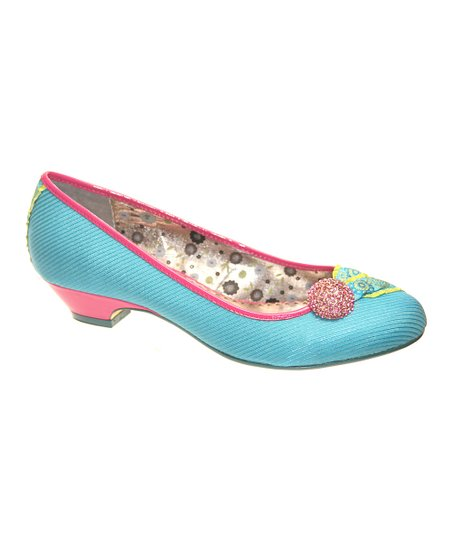 Blue Jeweled Expression Kitten Heel