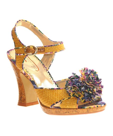 Yellow Speak Louder Sandal