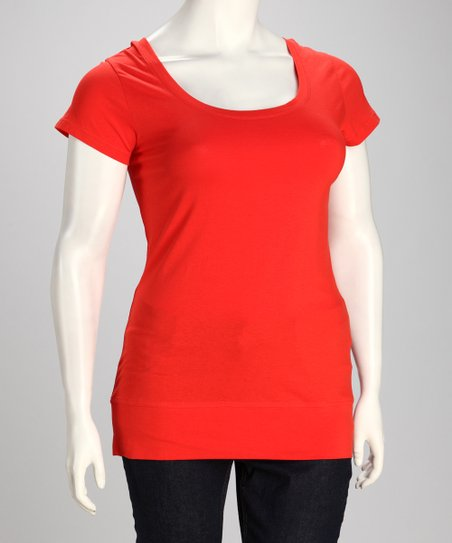 Sugar Coral Plus-Size Crisscross Tee
