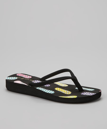 Black & Yellow Flip-Flop