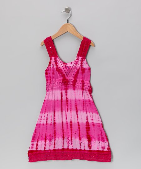 Hibiscus Dip-Dye Sequin Dress - Toddler & Girls