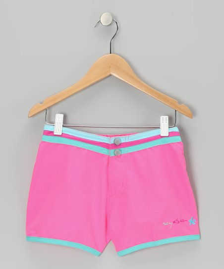 Bubble Gum Stripe-Waist Shorts
