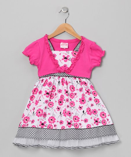 Pink Flower Dress &amp; Shrug - Infant