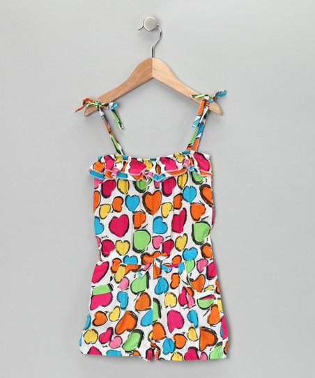 Rainbow Heart Romper - Infant, Toddler & Girls