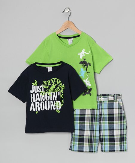 Green 'Just Hangin Around' Tee Set - Infant