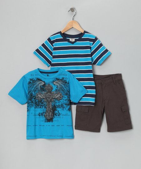 Blue Cross Tee Set - Boys