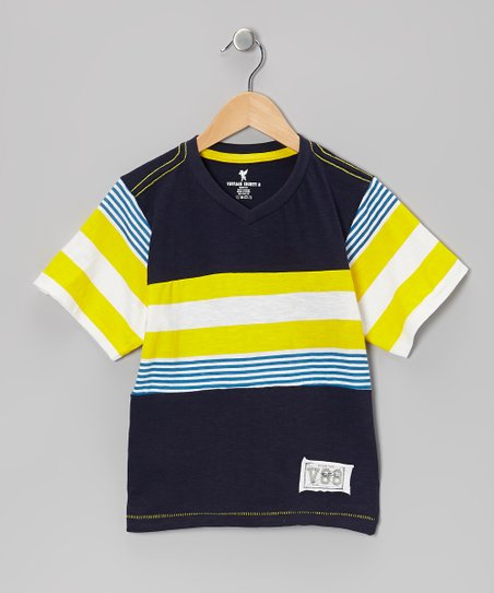 Yellow Stripe Tee - Boys
