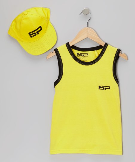 Yellow Tank & Baseball Cap