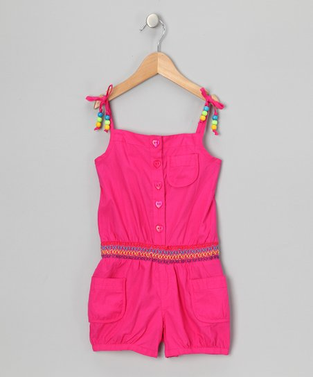 Pink Beaded Romper - Infant &amp; Girls