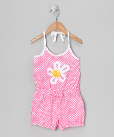 Pink Daisy Polka Dot Romper - Infant & Girls