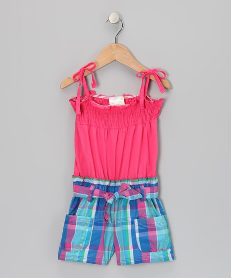 Pink Plaid Smocked Romper - Infant, Toddler & Girls