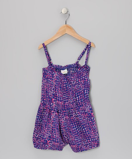 Pink & Purple Confetti Romper - Girls