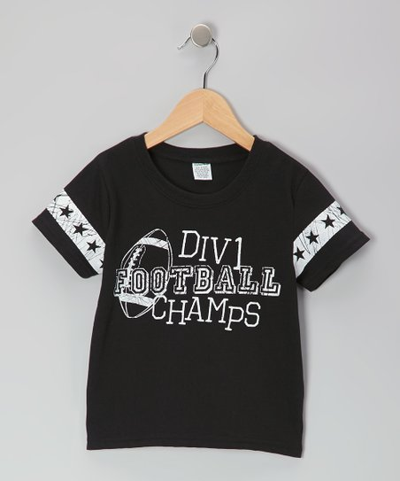 Black 'Football Champs' Tee - Toddler & Boys