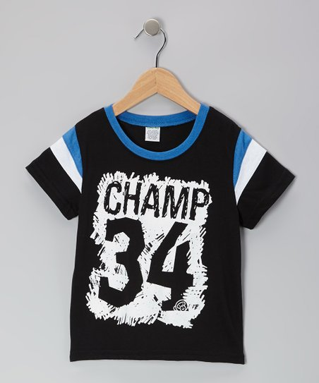 Black 'Champ 34' Tee - Toddler & Boys