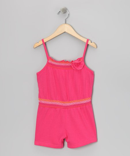 Pink Smocked Romper - Girls