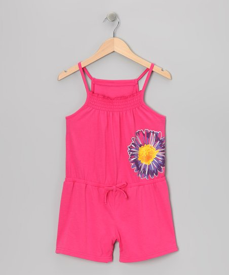 Pink Flower Romper - Toddler & Girls