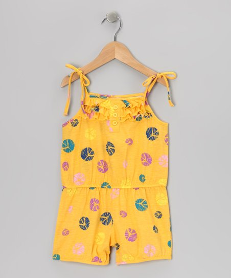 Yellow Ruffle Romper - Toddler & Girls