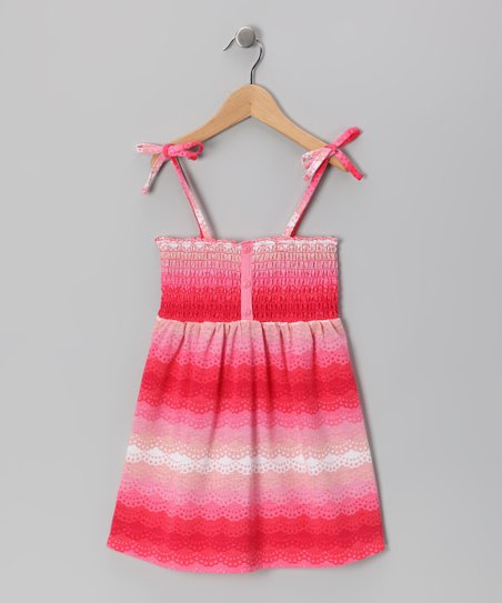 Pink Scallop Smocked Dress - Toddler & Girls