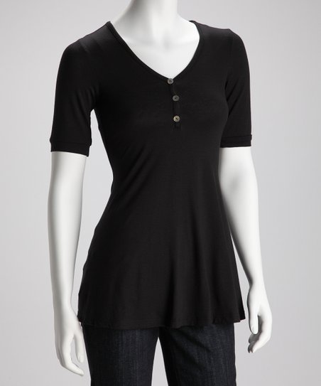 Black Henley - Women & Plus